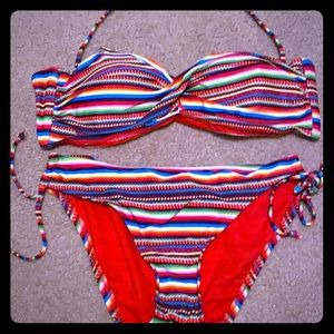 Multi color bikini